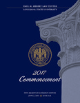 2017 LSU Law Commencement Program by LSU Law