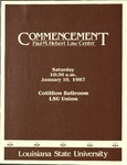 January 1987 LSU Law Commencement Program by LSU Law