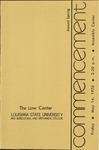 1976 LSU Law Commencement Program