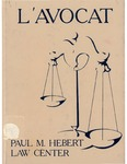 L'Avocat : 1986 by Louisiana State University Law Center