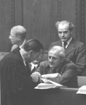 Otto Ambros and his lawyer by OMGUS MILITARY TRIBUNAL